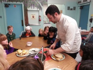 Chef Eric with kids at CLA - Copy