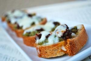 Pesto & Mozzarella Bruschetta or Parmesan Crusted Chicken Tenders