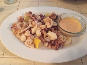 My homemade Fried Calamari with Spicy Mayo