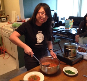 chef diana cooking