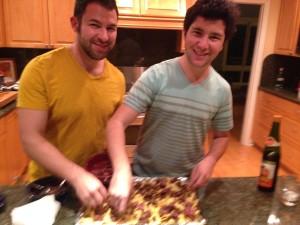Horwitz brothers making nachos