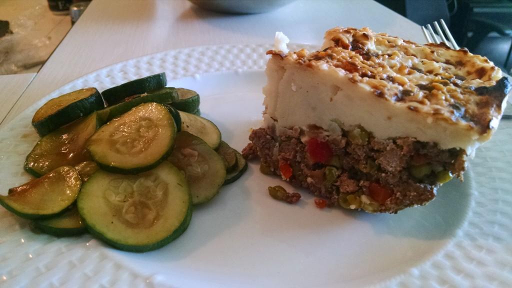 zucchini shepard pie closeup